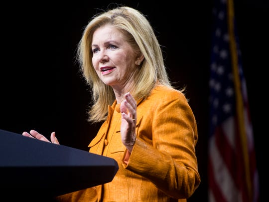 Republican Senate candidate Marsha Blackburn at the American Conservative Union's CPAC/365 Knoxville event supporting Senate candidate Marsha Blackburn at the Knoxville Convention Center on Friday, September 21, 2018.