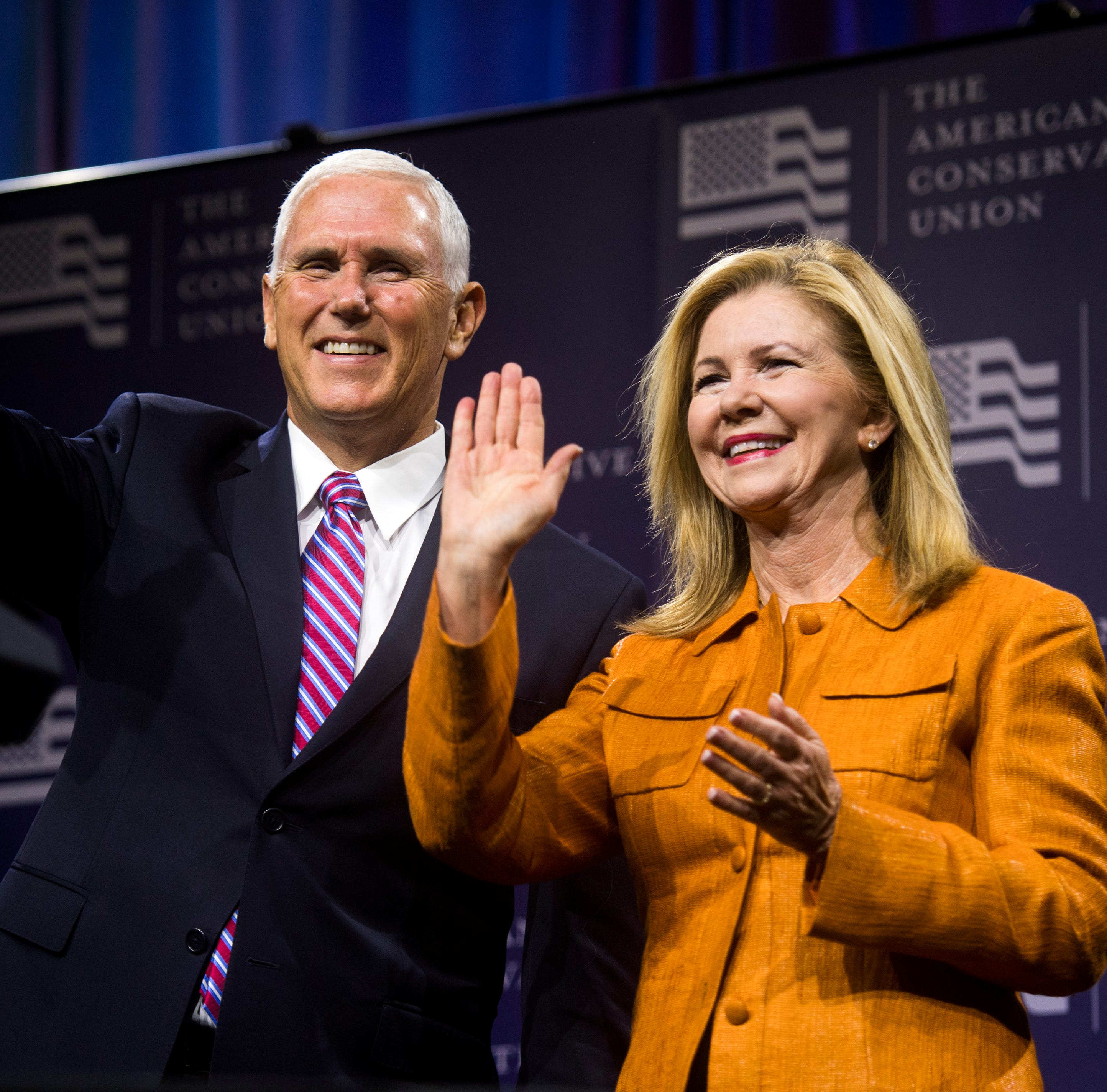 Vice President Pence, GOP leaders stump for Blackburn in Knoxville visit