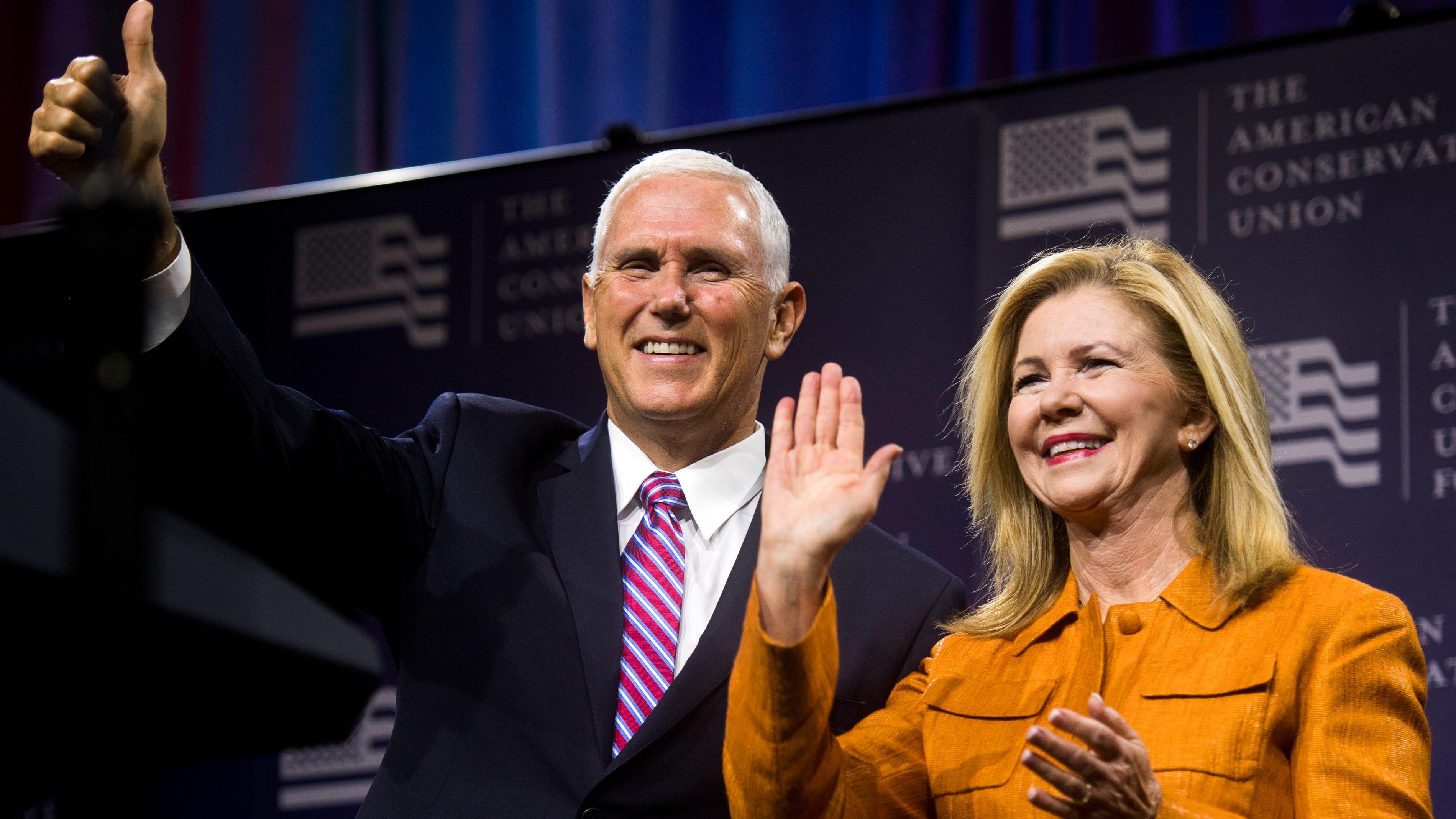 Vice President Pence, GOP leaders stump for Blackburn in Knoxville visit
