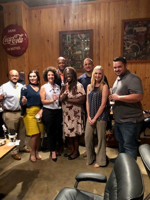 "The ""Witches and Warlocks of the Scream Team:"" (front row from left) Brandon Singleton, Denise Cannatella, Dr. Mia Ben, Shelly Fontenot, Eric Gautreaux, (back row) Bryant Riggs, Lt. Graig LeBlanc"