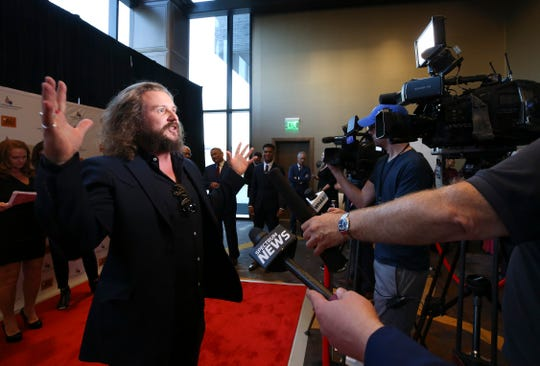 JIm James arrives on the red carpet for The Muhammad Ali Humanitarian Awards at the Omni Hotel.