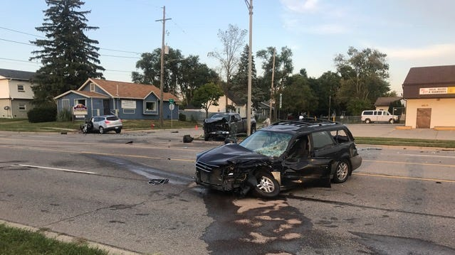 Two critically injured in three-vehicle crash on Lansing's north side