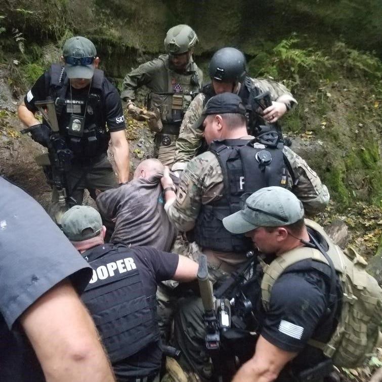 Fugitive Shawn Christy was captured Friday.