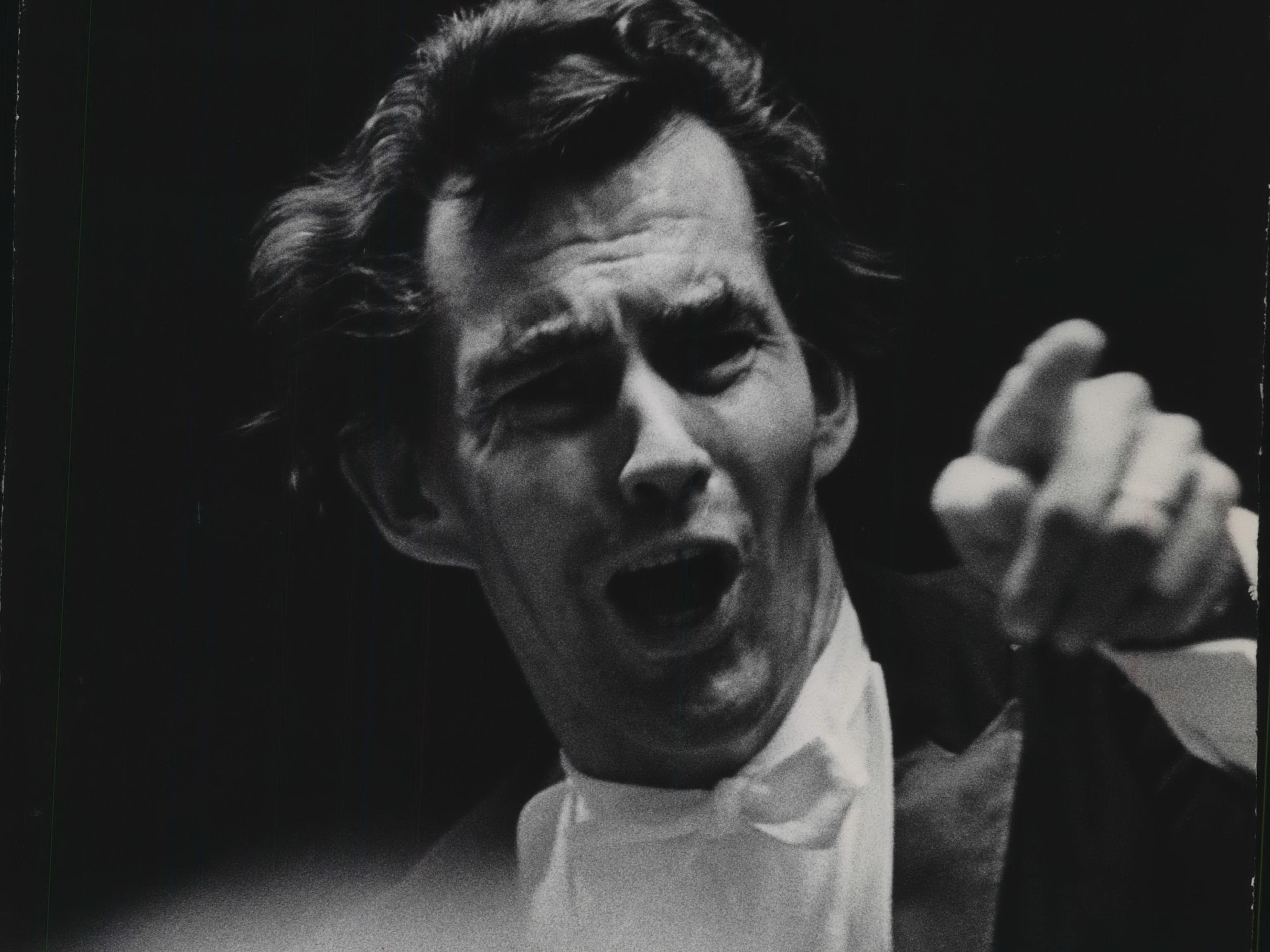 Kenneth Schermerhorn conducts the Milwaukee Symphony Orchestra in the opening night of the symphony's 1968-'69 season on Sept. 28, 1968. It also was Schermerhorn's formal debut as the MSO's chief conductor and music director. This photo was published in the Sept. 30, 1968, Milwaukee Journal.