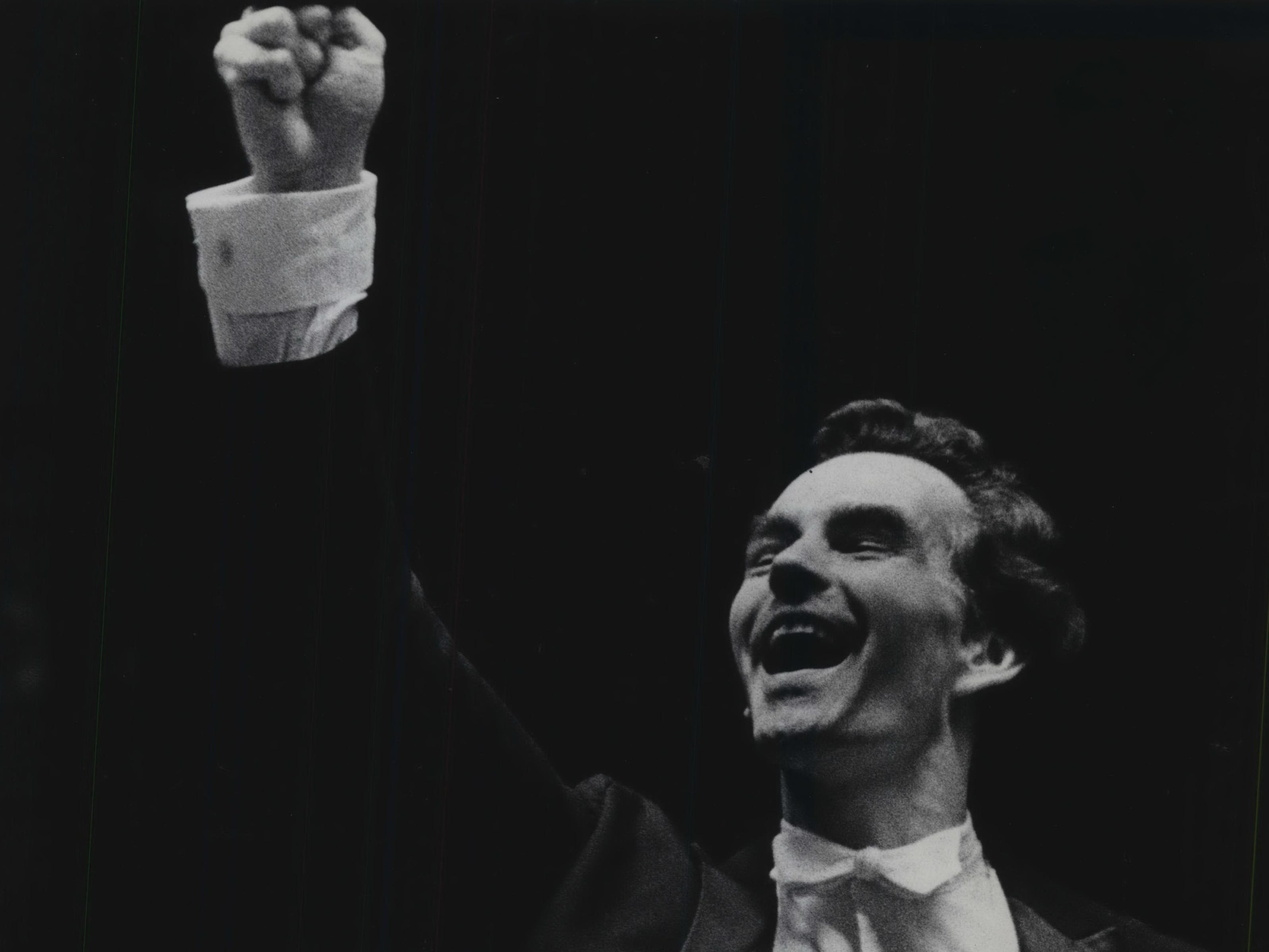 Kenneth Schermerhorn leads the Milwaukee Symphony Orchestra on his first official night as conductor and music director of the symphony, on Sept. 28, 1968. This photo was published in the Sept. 30, 1968, Milwaukee Journal.