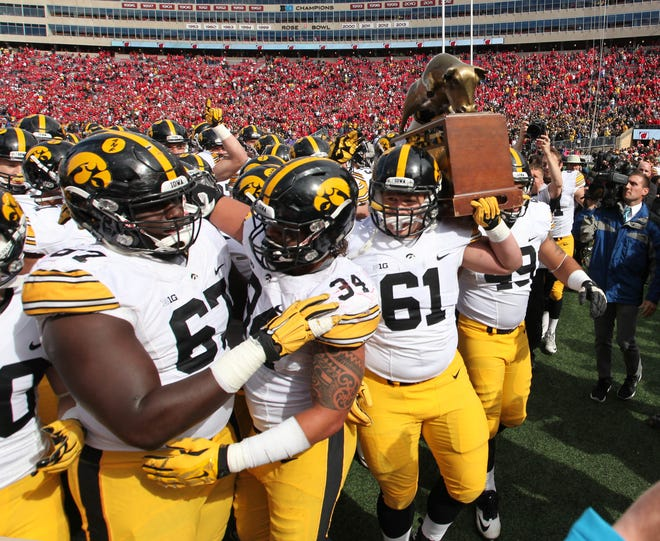 The Iowa Hawkeyes beat Wisconsin in Madison in 2015 on their way to the Big Ten West Division title.