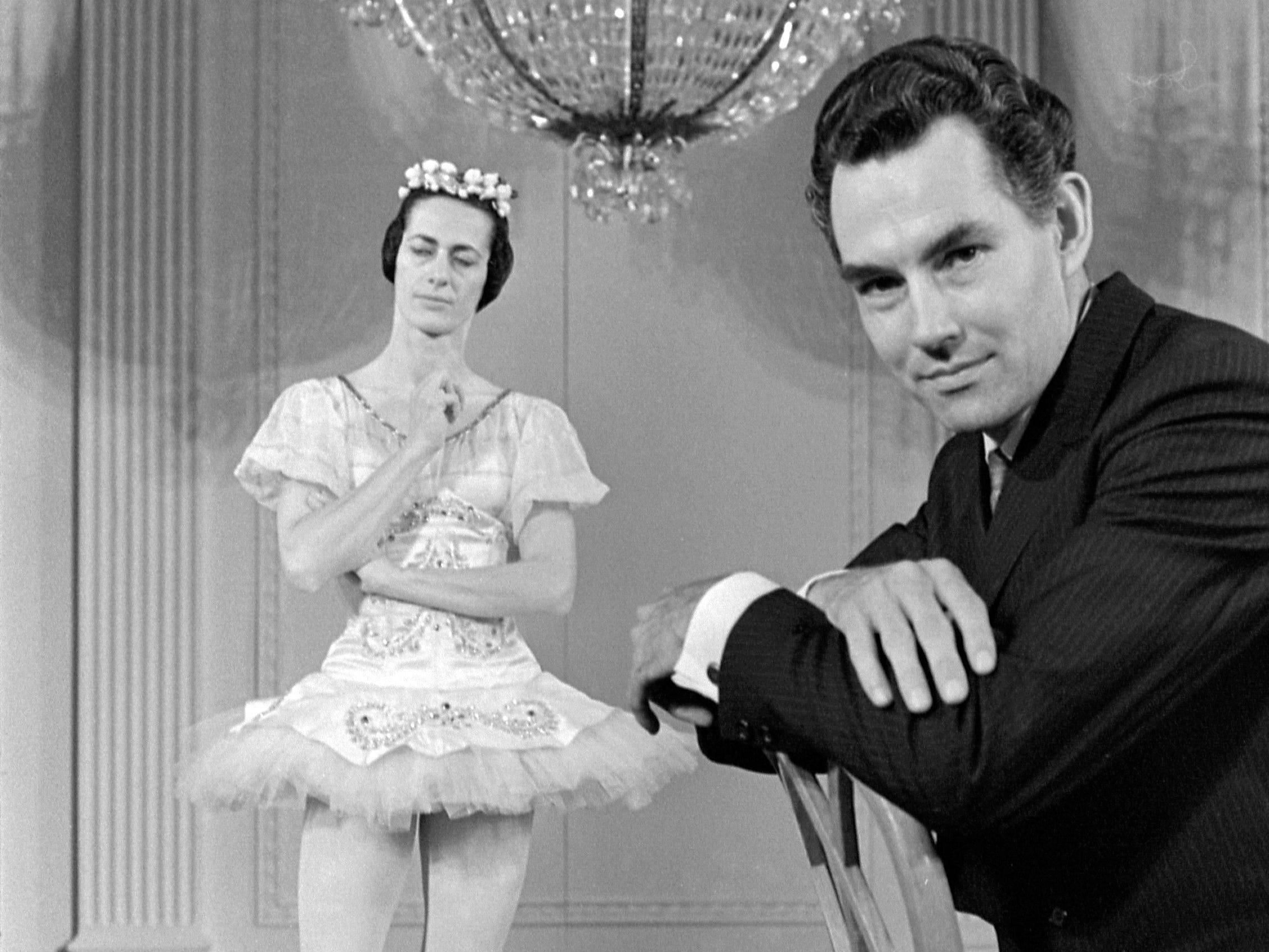 Kenneth Schermerhorn, the new conductor and music director of the Milwaukee Symphony Orchestra, and his wife, ballerina Lupe Serrano, pose beneath a chandelier in the East Room of the White House on May 26, 1968. They appeared with the American Ballet Theatre, which performed after a state dinner at the White House; Schermerhorn directed the Marine Band. This photo was published int he May 28, 1968, Milwaukee Journal.