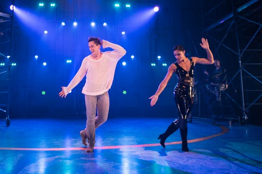 """Lucas Pastrana and Krystal Drake dance in Skylight Music Theatre's """"Pippin."""""""
