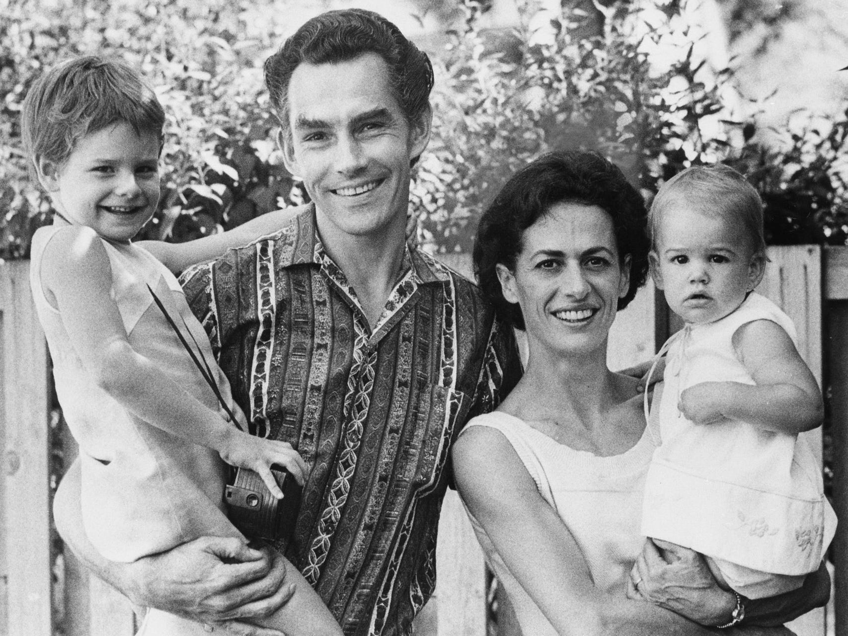 Kenneth Schermerhorn and his wife, Lupe Serrano, psoe with their children, Erica (left) and Veronica, on the lawn of their new home in Whitefish Bay in this portrait, published in the Aug. 21, 1968, Milwaukee Journal. Schermerhorn was about to start his new job as conductor and music director of the Milwaueke Symphony Orchestra.