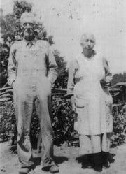 "William Jasper and Malissa Isabel ""Belle"" Johnson are pictured, circa mid 1930s"