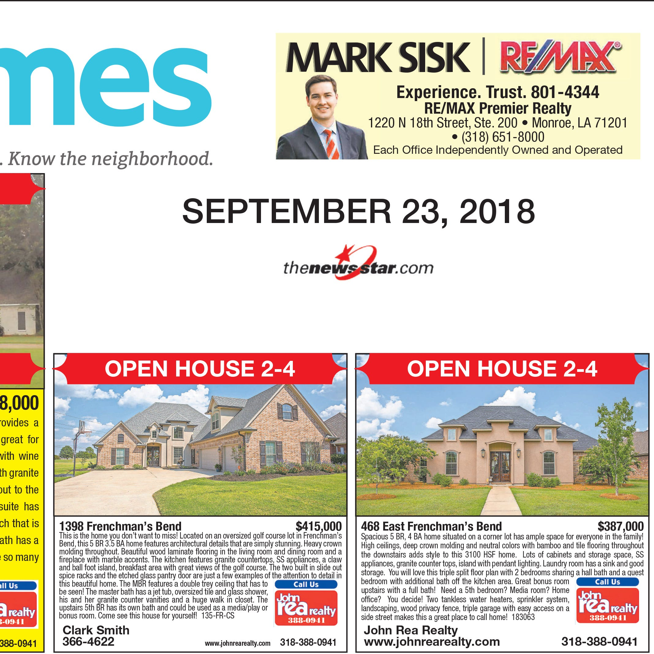 Homefinder: Sept. 23, 2018