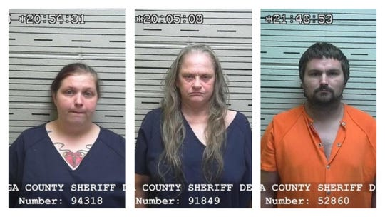 Dannielle Nicole Martin, from left, Vickie Seale Higgenbotham and Joshua Daniel Martin