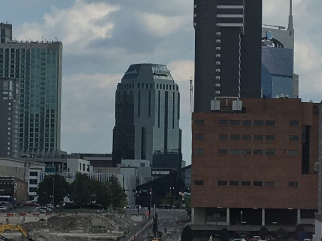The Wework, Regions Bank building at 150 4th Avenue North, known as One Nashville Place