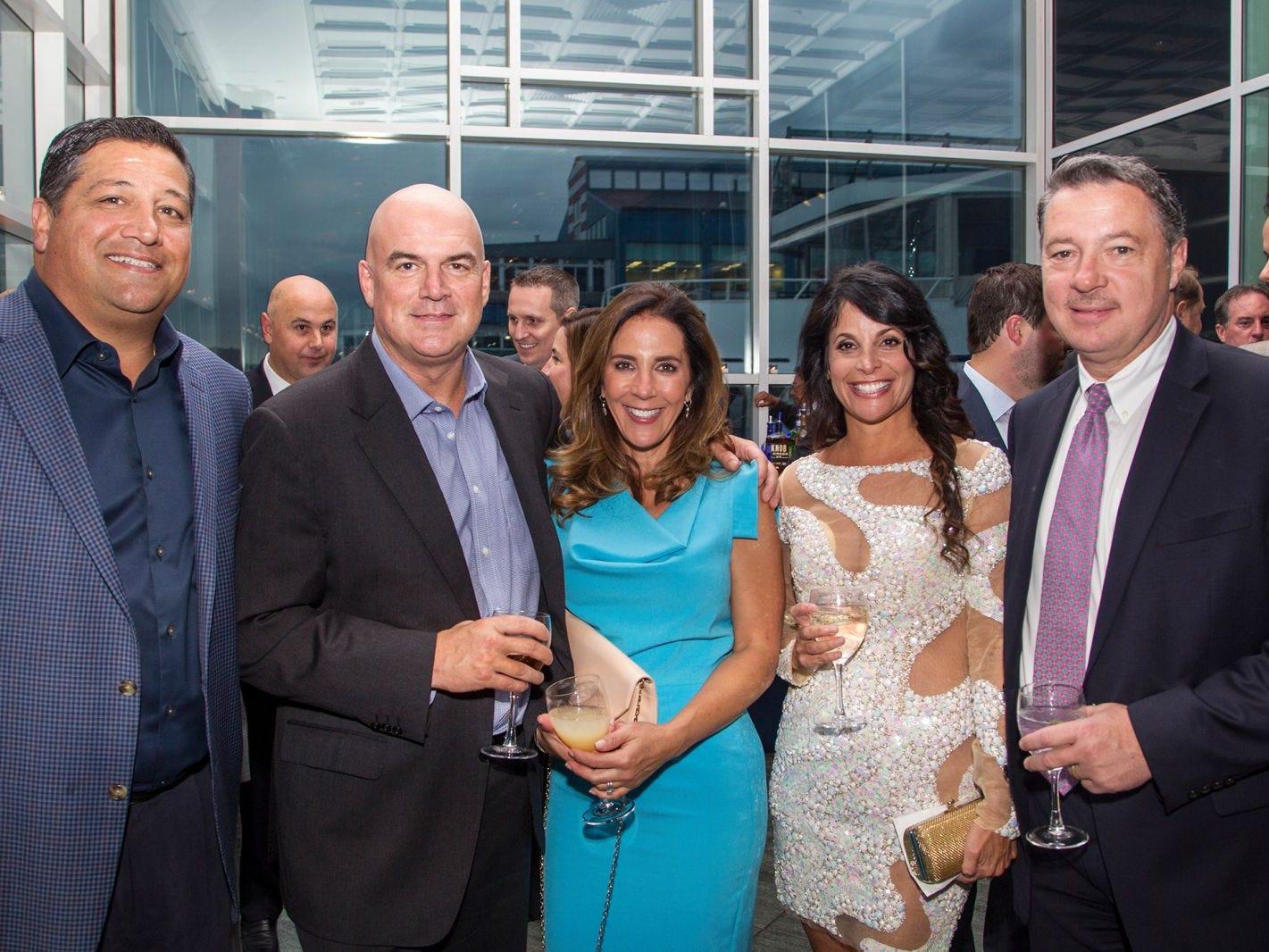 Paul Vegliante, James and Gina Anello, Maryann and John Scheibelhoffer. 11th annual IronMatt Fundraiser Gala at Pier 60 Chelsea Piers. 09/20/2018
