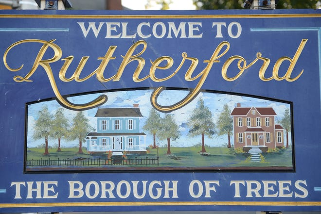 Rutherford welcome sign.