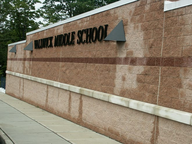 Waldwick Middle School Dedication (Saturday; September 18th; 2004): another view of the outside. (Photo by Keith Smollin)