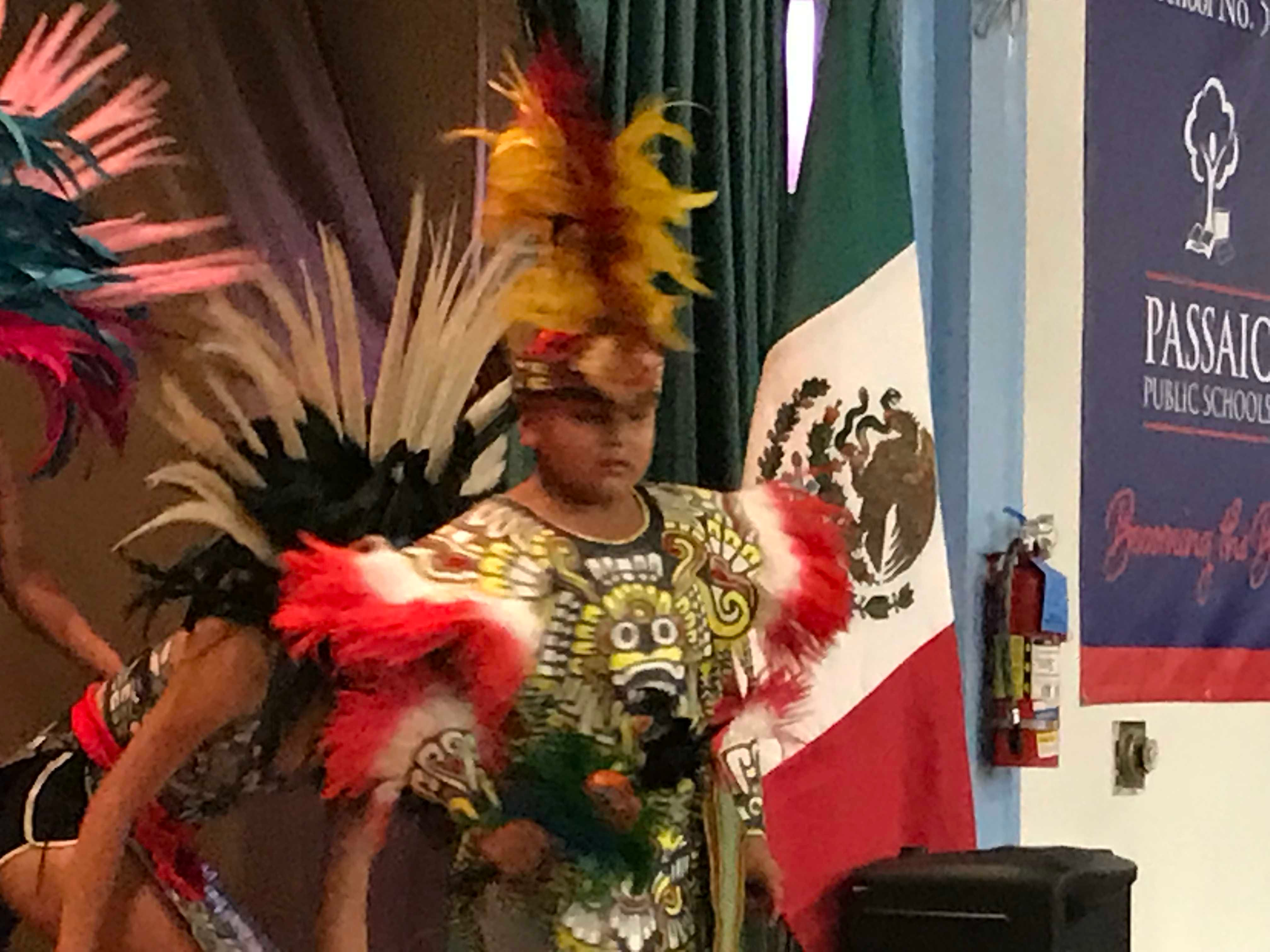 A member of Esperanza Azteca performs a traditional dance Thursday night.