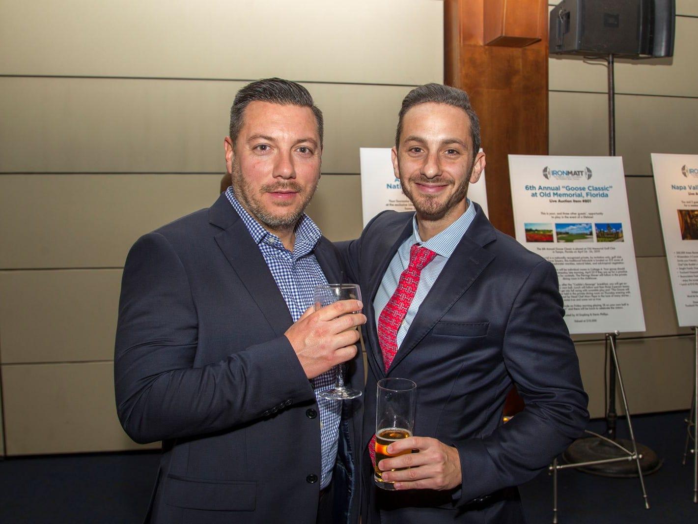 David and Josh. 11th annual IronMatt Fundraiser Gala at Pier 60 Chelsea Piers. 09/20/2018