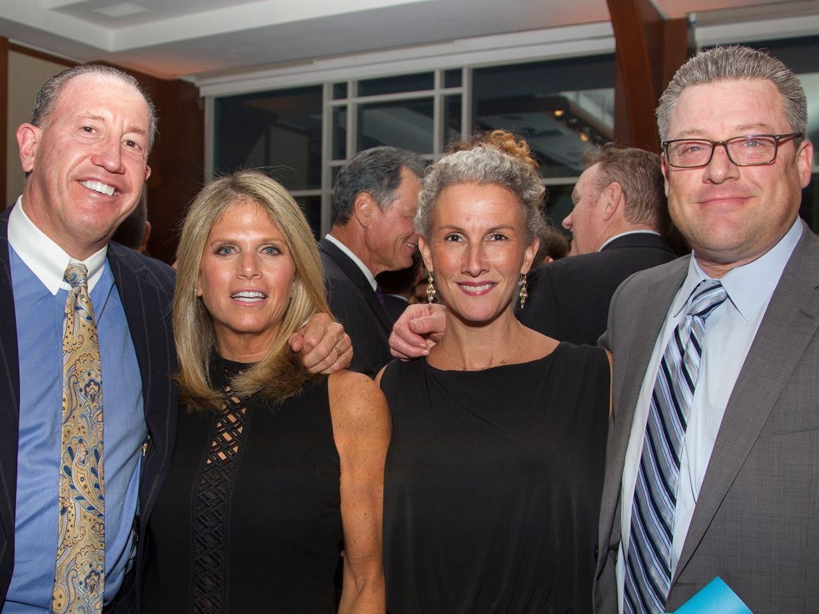 Richard and Bonnie Weiner, Patricia and Rob Landel. 11th annual IronMatt Fundraiser Gala at Pier 60 Chelsea Piers. 09/20/2018
