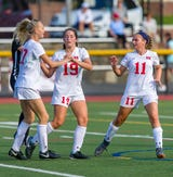 Katie Murray scored in the first half to give Northern Highlands a 1-0 lead against Ramapo.