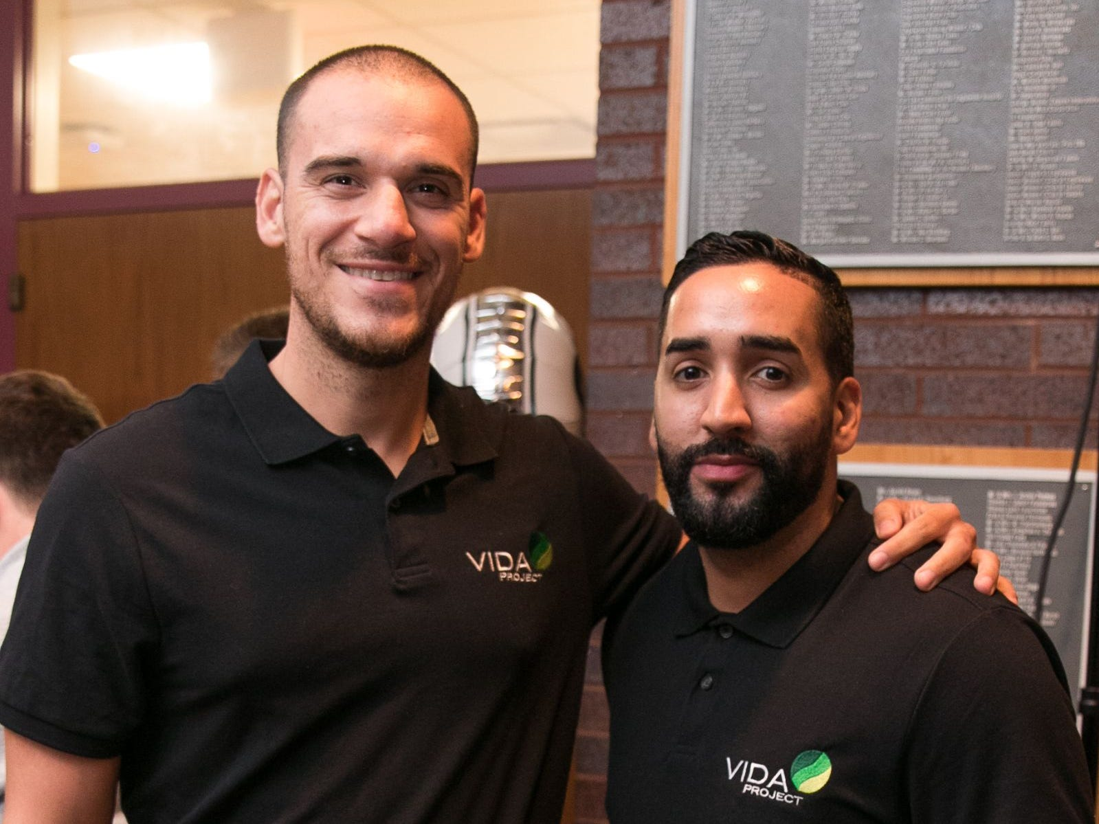 Moises Santos, Gabriel Fuentez - Vida Project. Englewood Health hosted its Men's Health and Football event with former Jets and Giants players and Don La Greca from ESPN radio. Attendees watched the Thursday night football game while receiving advice about staying healthy and tackling health problems early on. 09/20/2018