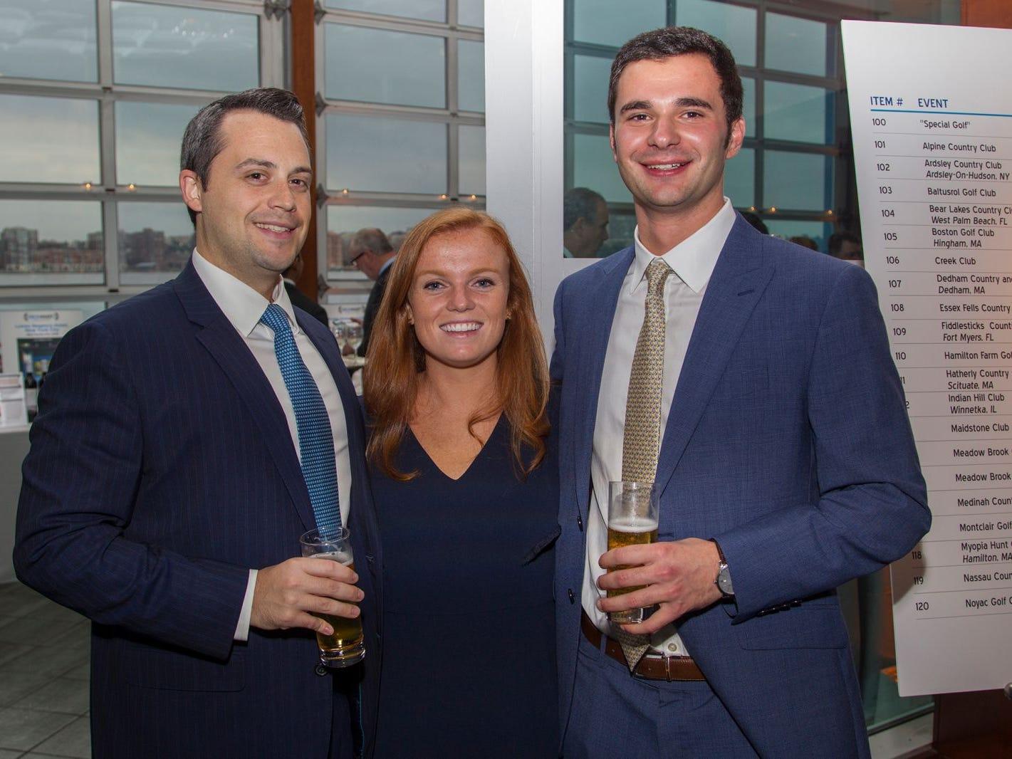 Tom Schneider, Taylor Ryan, Alex Leondis. 11th annual IronMatt Fundraiser Gala at Pier 60 Chelsea Piers. 09/20/2018