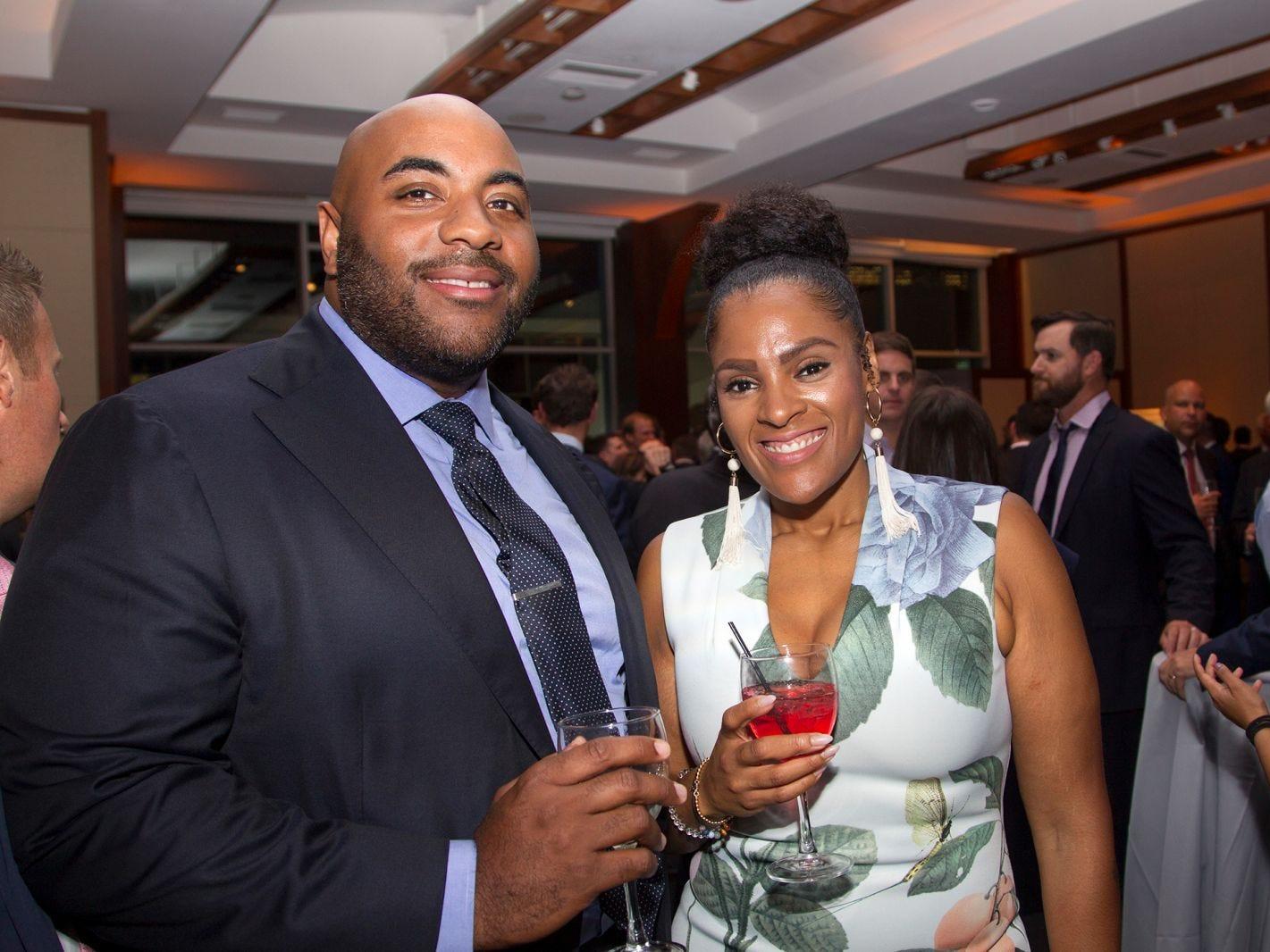 Stephanie LaRosiliera and Julius Williams. 11th annual IronMatt Fundraiser Gala at Pier 60 Chelsea Piers. 09/20/2018