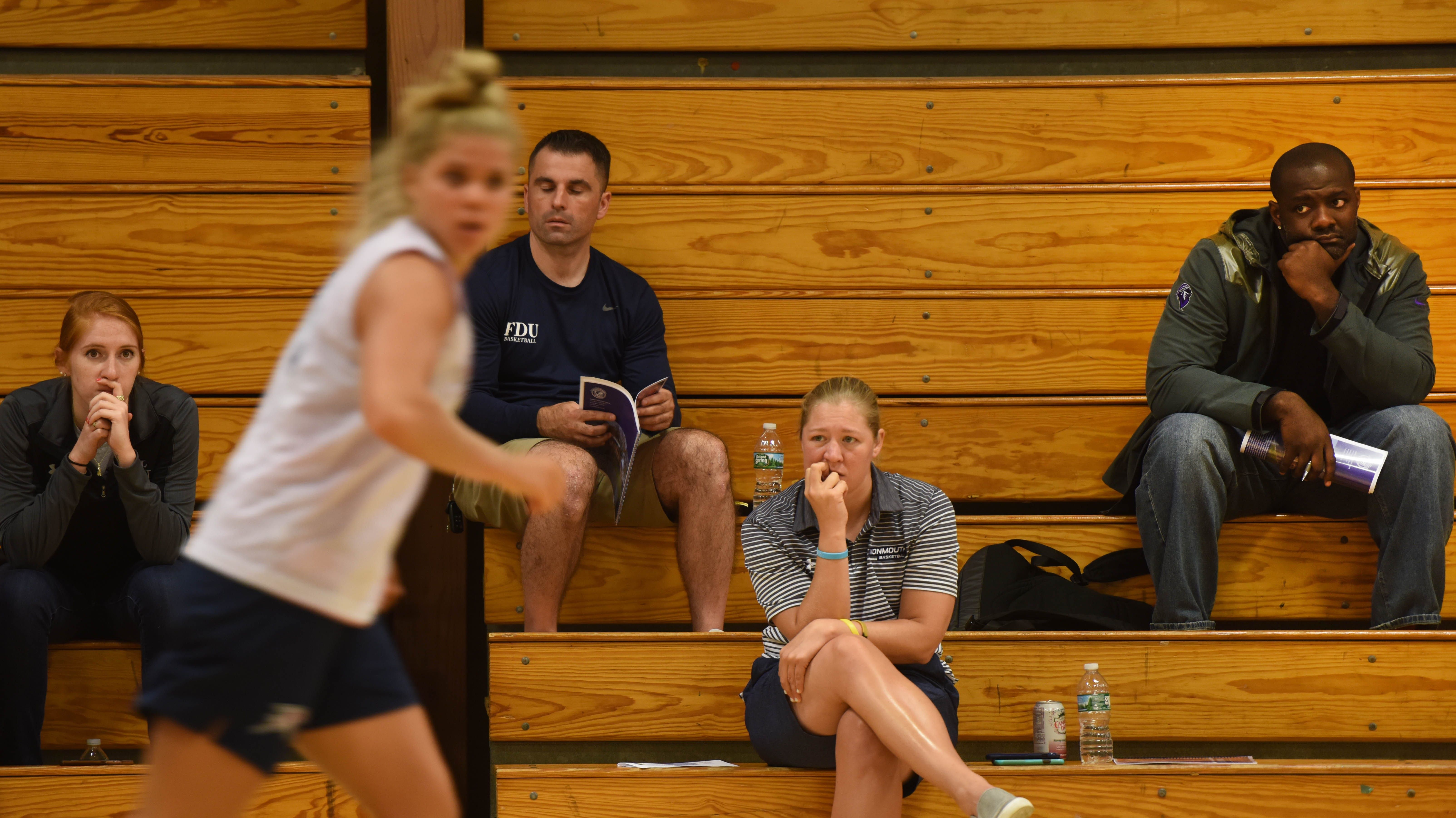 Coaches watch Saddle River Day's Open Gym.