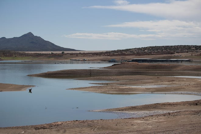 Elephant Butte Reservoir on Sept. 10, 2018, when it was at 3.7 percent capacity.