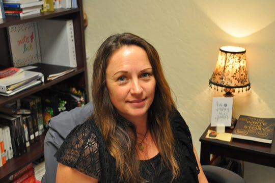 April Brown on Sept. 19 in her office at New Mexico State University Carlsbad.