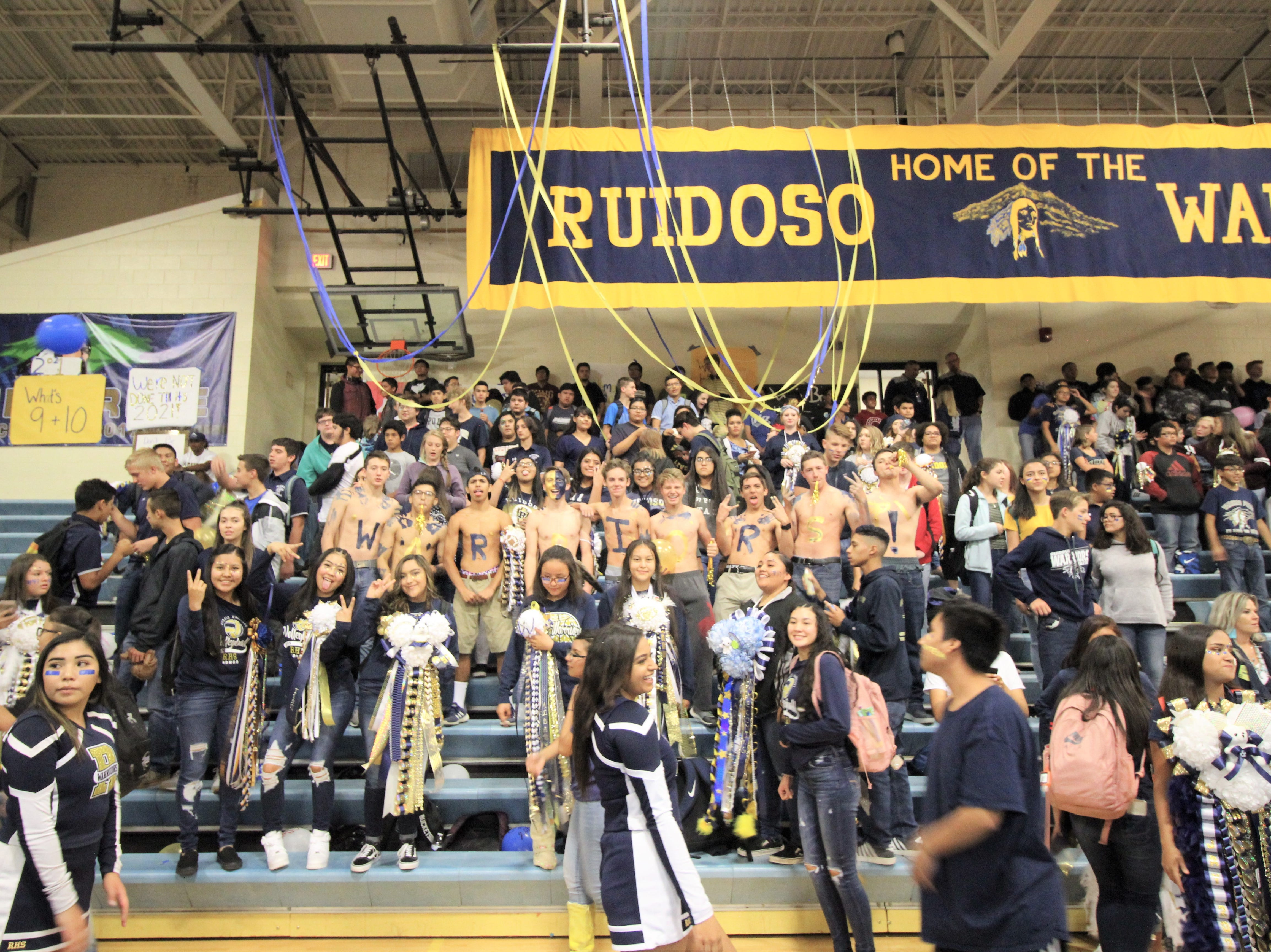 School spirit shines through at the 2018 Homecoming pep rally cheering on the win for the Warriors.