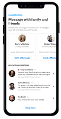 The Everdays app allows grieving family members to receive and send messages.