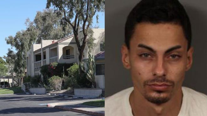 Joseph Ramey, right,  is accused of entering Palm Springs area homes while  people slept  He is believed responsible for numerous burglaries, police say.