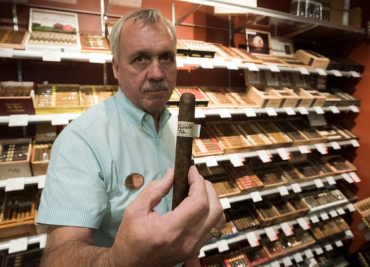 Mike Duncan, district manager of ABC Fine Wine and Spirits, welcomes new customers to the company's new store on Bayou Blvd. on Friday, Sept. 21, 2018. The nearly 18,000 square foot Liquor store features a wide variety of fine wines, liquors, spirits, and beers as well as a walk-in humidor stocked with an excellent selection of cigars.
