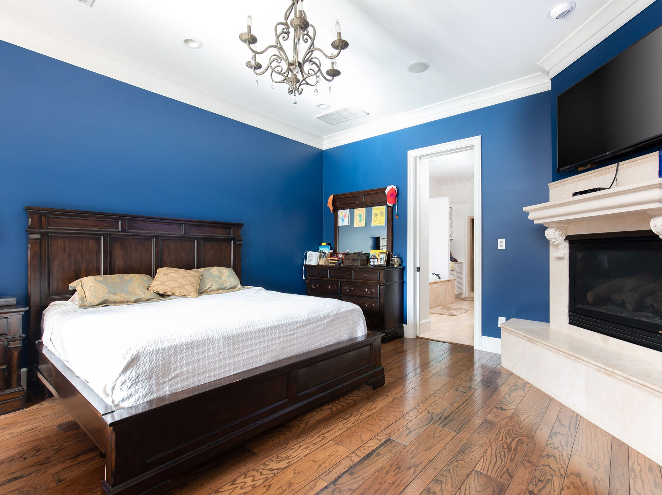 1329 Quiet Cove Court, one of two master suites in the home.