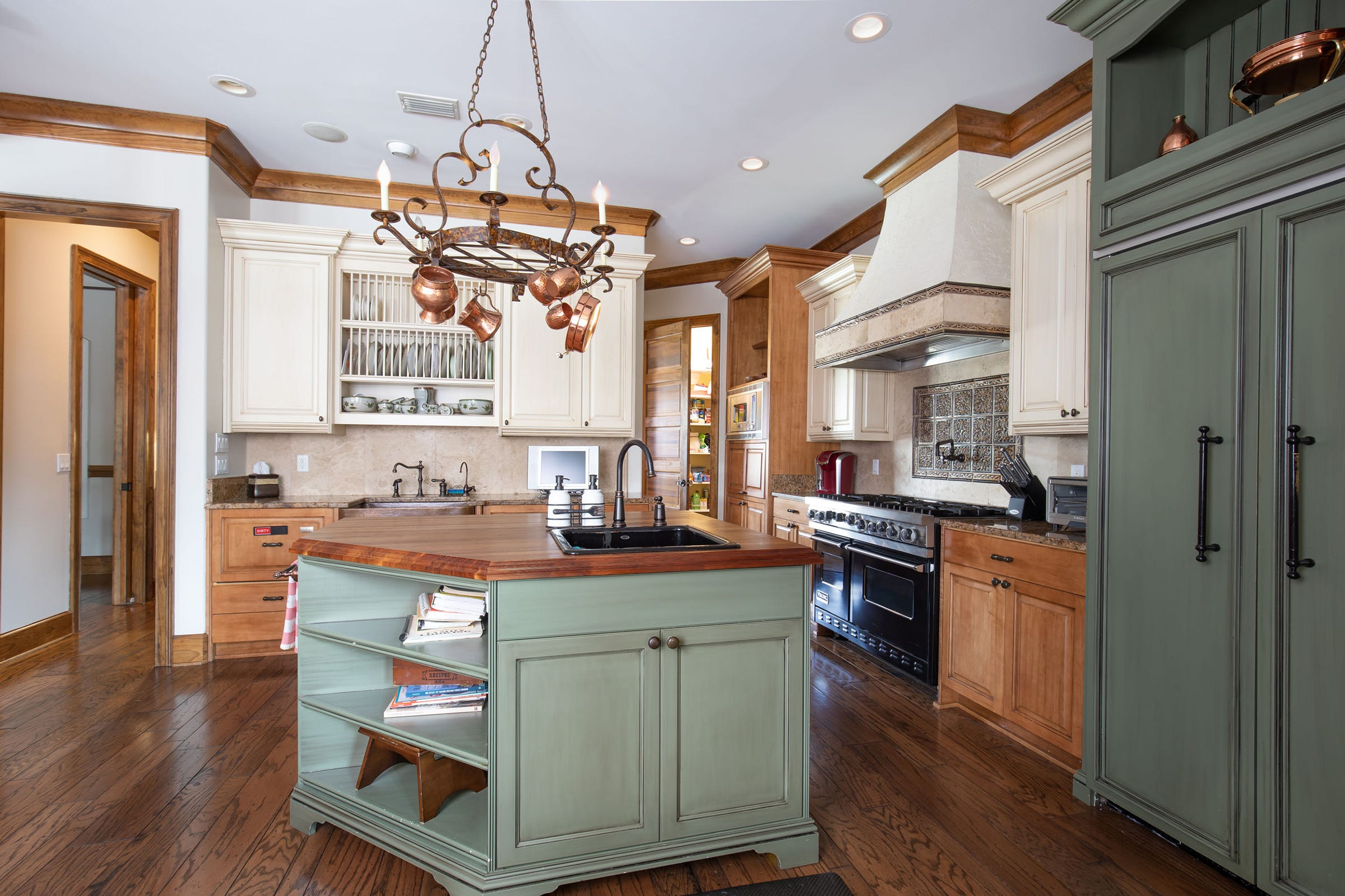 1329 Quiet Cove Court, the open kitchen with a center island.