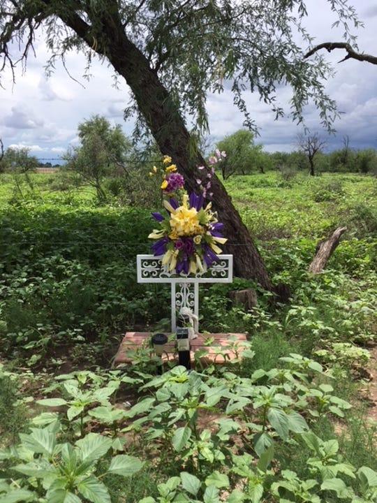The shrine near San Xavier Mission.