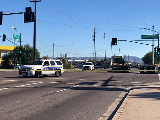 A pedestrian was killed on Thursday afternoon after a semitruck's rear wheels came up onto the sidewalk and hit the man.