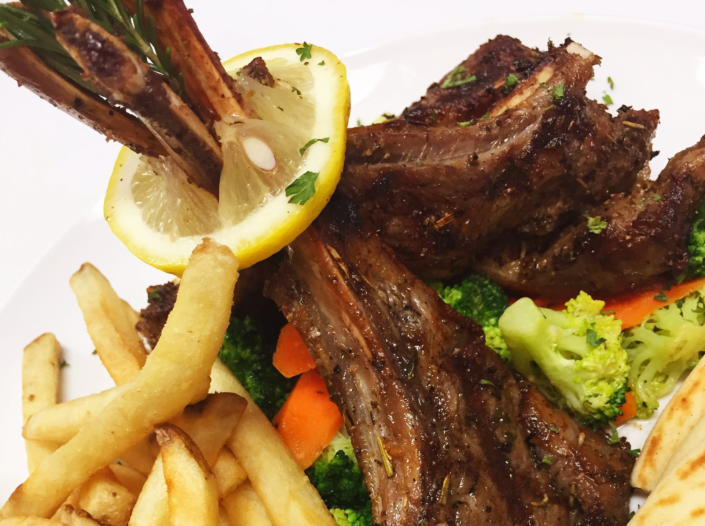 Lamb chops from Kovo, a Mediterranean-inspired restaurant in northeast Phoenix.
