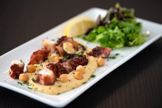 Grilled octopus from Kovo, a Mediterranean-inspired restaurant in northeast Phoenix.