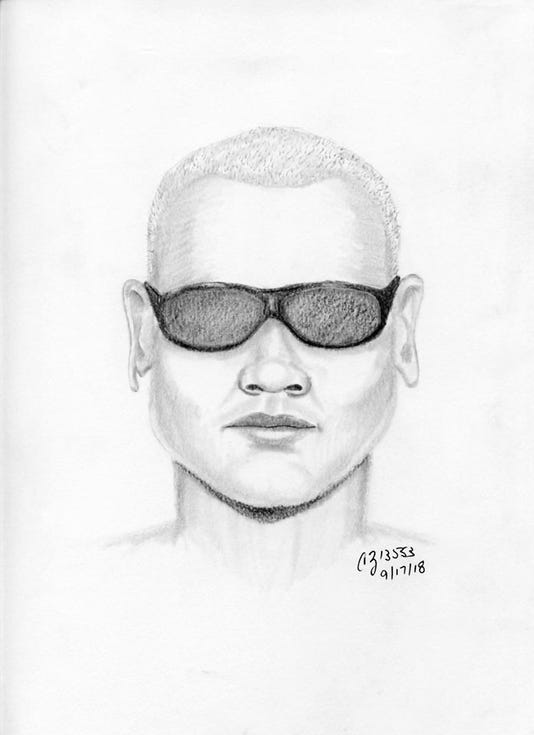 Sketch of man who approached girl