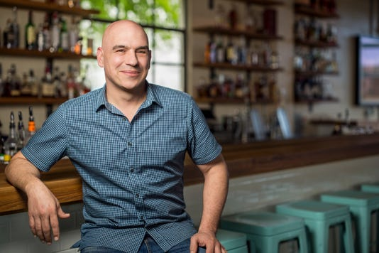 Michael Symon on Cooking Channel's Burgers Brew Que I