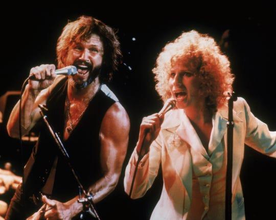 "Kris Kristofferson and Barbra Streisand star in ""A Star Is Born"""