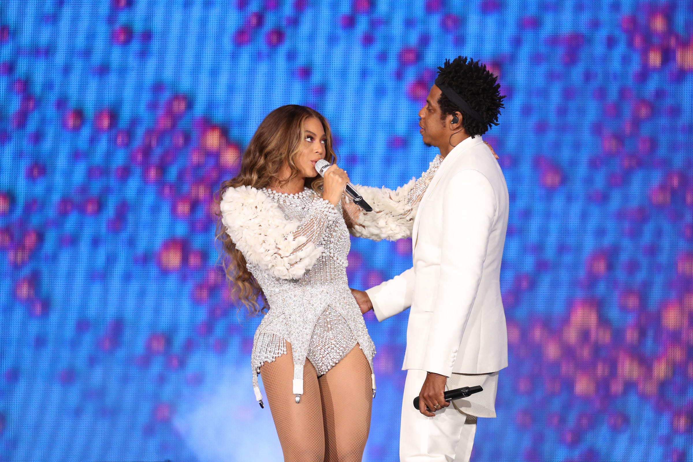 Beyonce and Jay-Z perform on the 'On The Run II' tour at the University of Phoenix Stadium on Sept. 19, 2018, in Phoenix, Arizona.