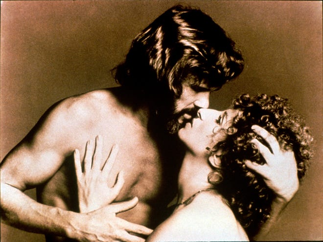 "This image of Kris Kristofferson and Barbra Streisand was use to promote 1976's ""A Star Is Born."""