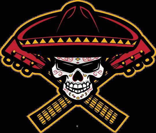 The new logo for the Tucson Sugar Skulls indoor football team.