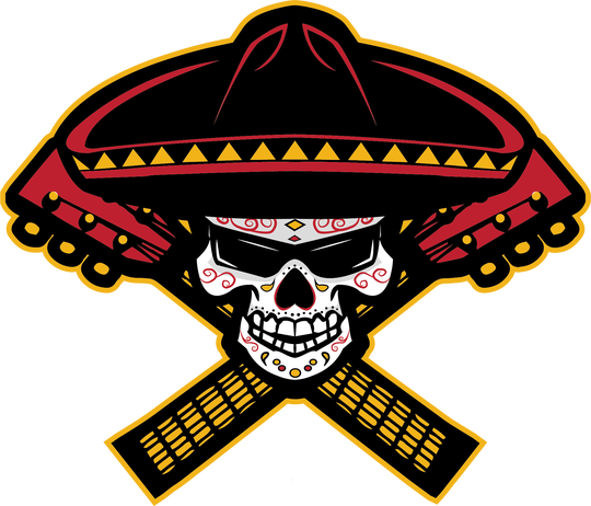 The new logo for the Tucson Sugar Skulls indoor football team.
