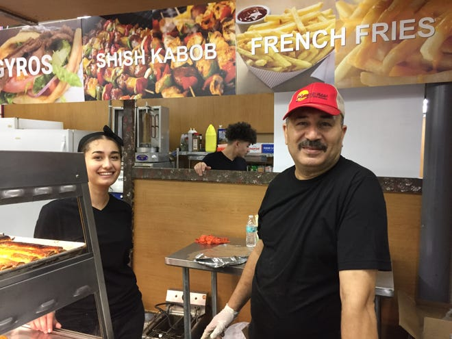 From left to right, Mai, Mostafa and Mohamed Elhabashy of Mediterranean Foods.