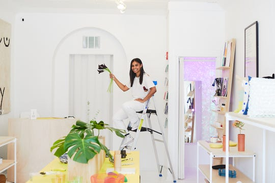 Philadelphia business owner Shannon Maldonado shows off her lifestyle shop, YOWIE.