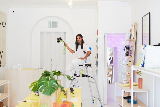 Philadelphia business owner Shannon Maldonado shows off her lifestyle shop, YOWIE.